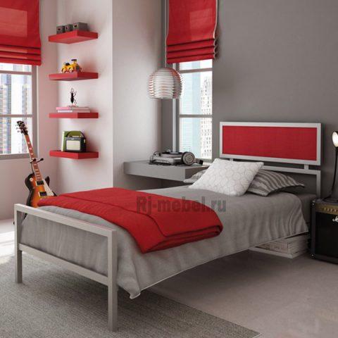 Односпальная металлическая кровать Беатрис