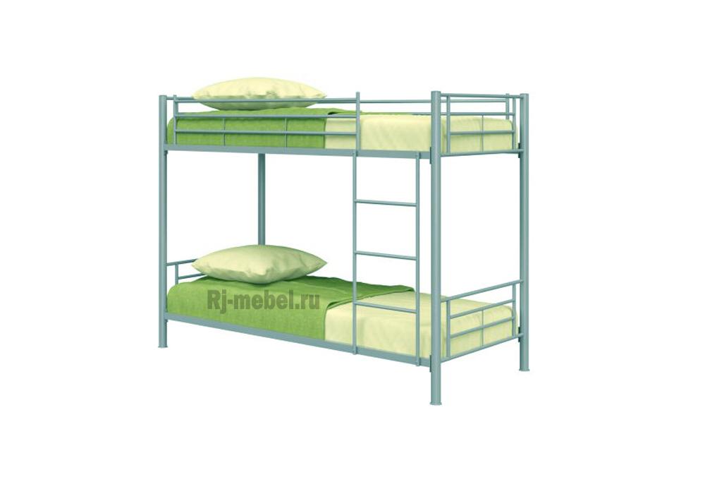 Кровать двухъярусная металлическая фото