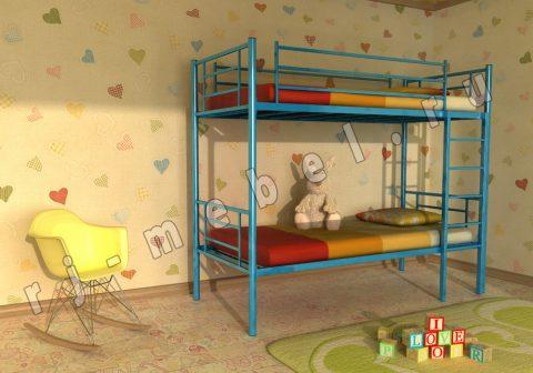 Двухъярусная металлическая кровать Бадди