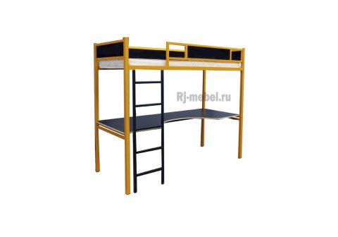 Двухъярусная металлическая кровать Дионис