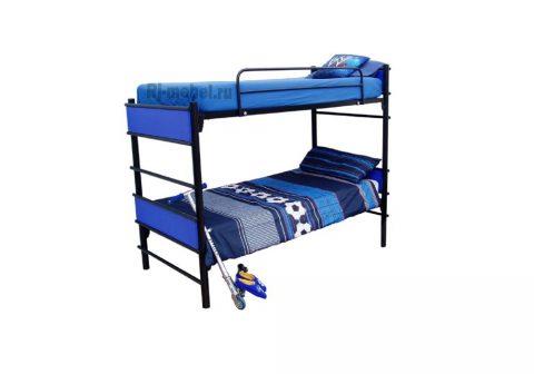 Двухъярусная металлическая кровать Метеор