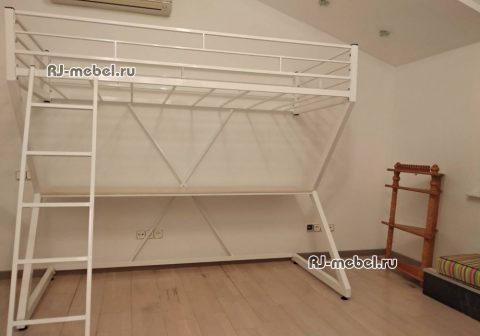 Металлическая кровать-чердак Зетта в Москве