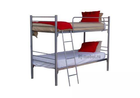 Двухъярусная металлическая кровать Кай