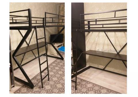 Металлическая кровать-чердак Зетта купить в Москве