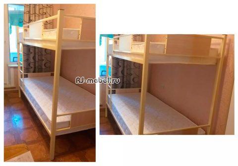 Двухъярусная металлическая кровать Зевс - 0101