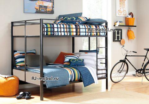 Двухъярусная металлическая кровать Эшли