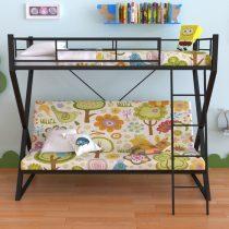 Металлическая двухъярусная кровать-диван Гредос