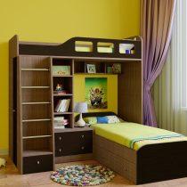 Двухъярусная деревянная кровать Астра 4 Венге