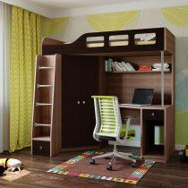 Двухъярусная деревянная кровать Астра 7 Дуб шамони - Венге