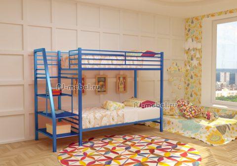 Двухъярусная металлическая кровать Афина