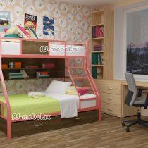 двухъярусная металлическая кровать ЗЕВС 3 для взрослых