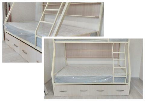 Двухъярусная металлическая кровать ЗЕВС 3