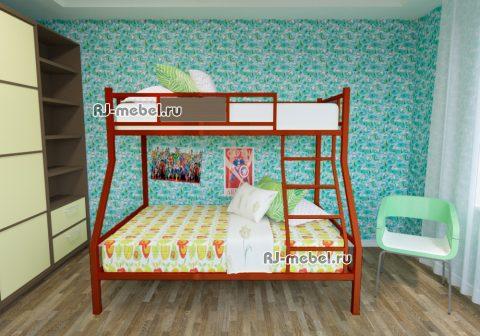Двухъярусная металлическая кровать Зевс 4