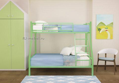 Двухъярусная металлическая кровать ЗЕВС комфорт